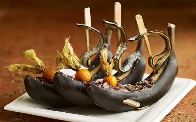 mein sonntag essen trinken reisen standard news archiv bananenschiffchen mit schokolade. Black Bedroom Furniture Sets. Home Design Ideas